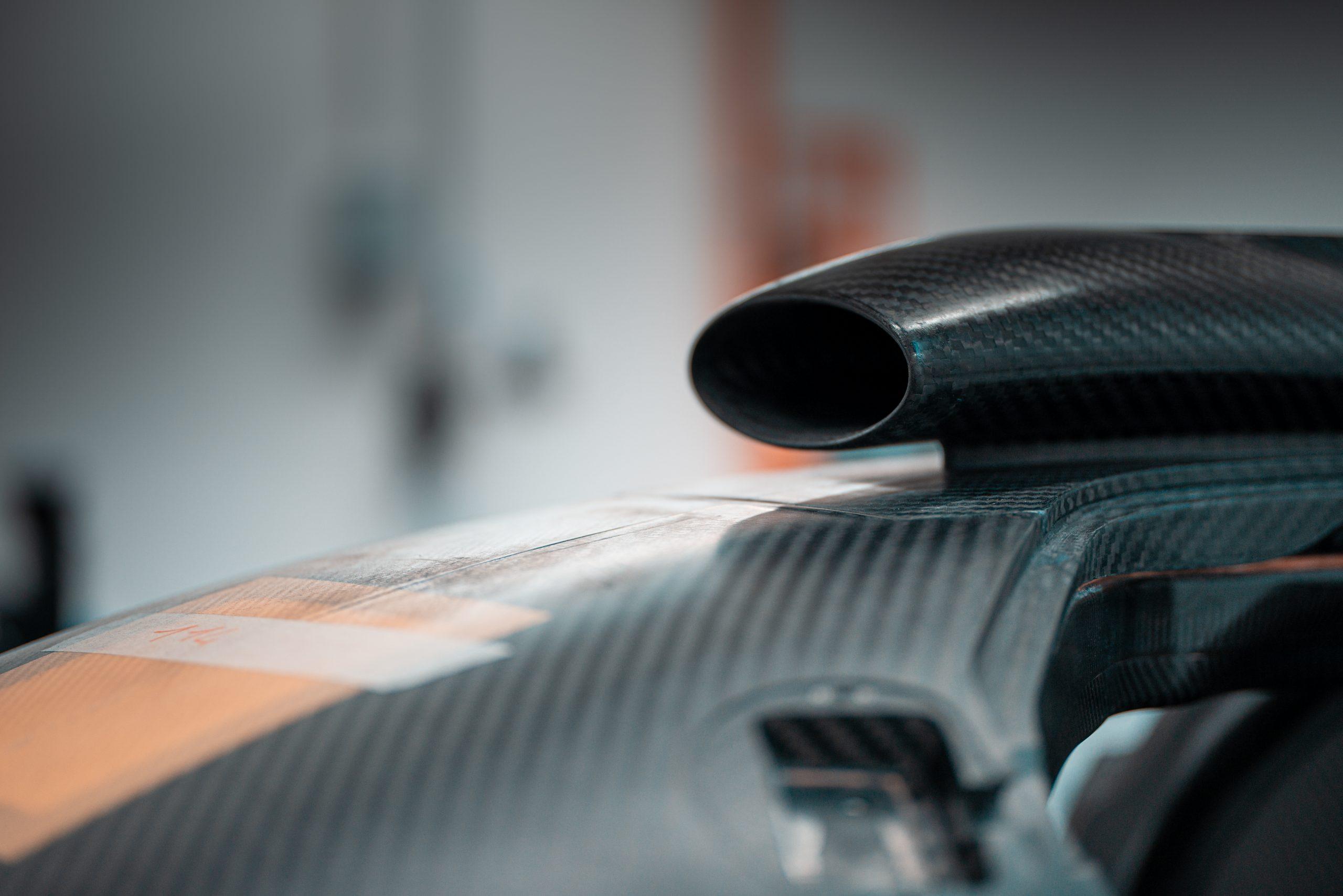 SCG Scuderia Cameron Glickenhaus 007 Hypercar LMH carbon fiber scoop