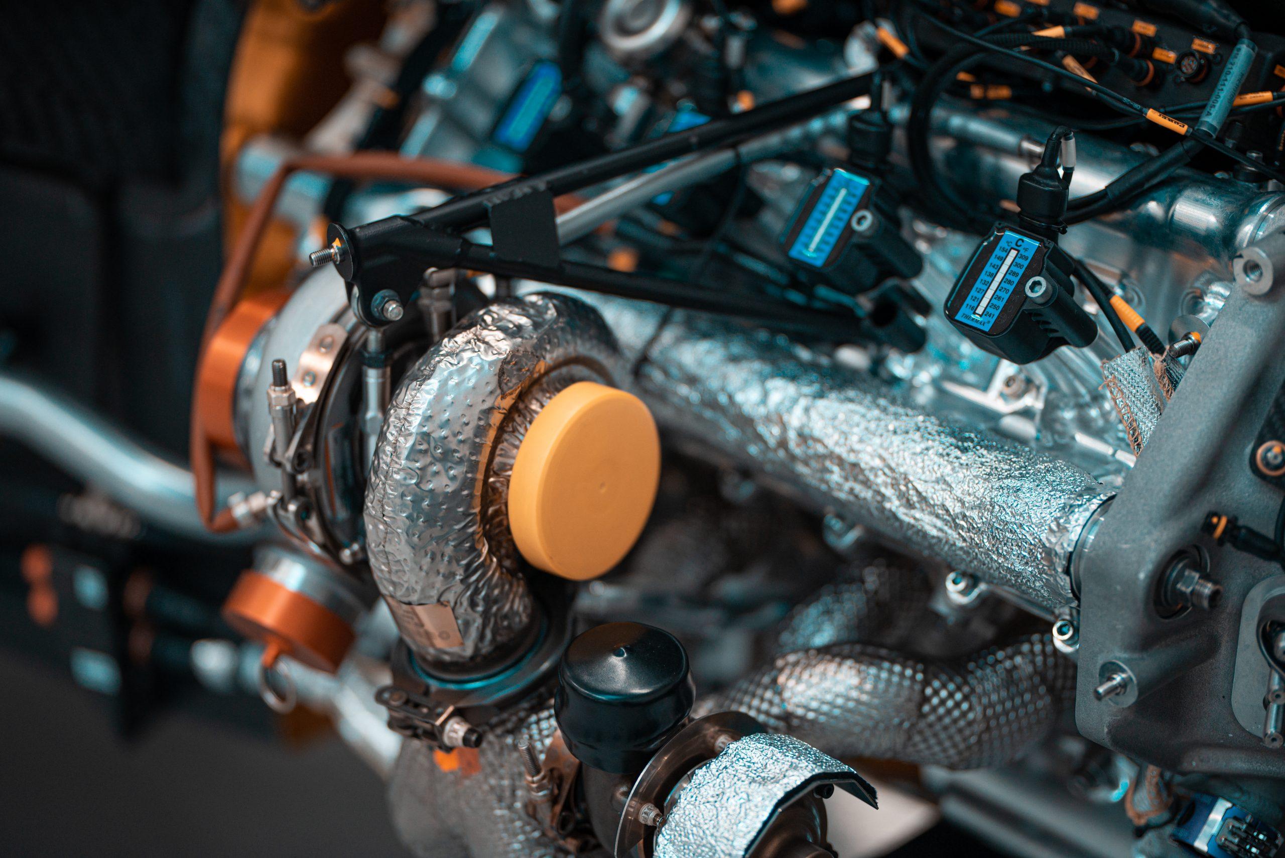 SCG Scuderia Cameron Glickenhaus 007 Hypercar LMH heat deflection tape engine