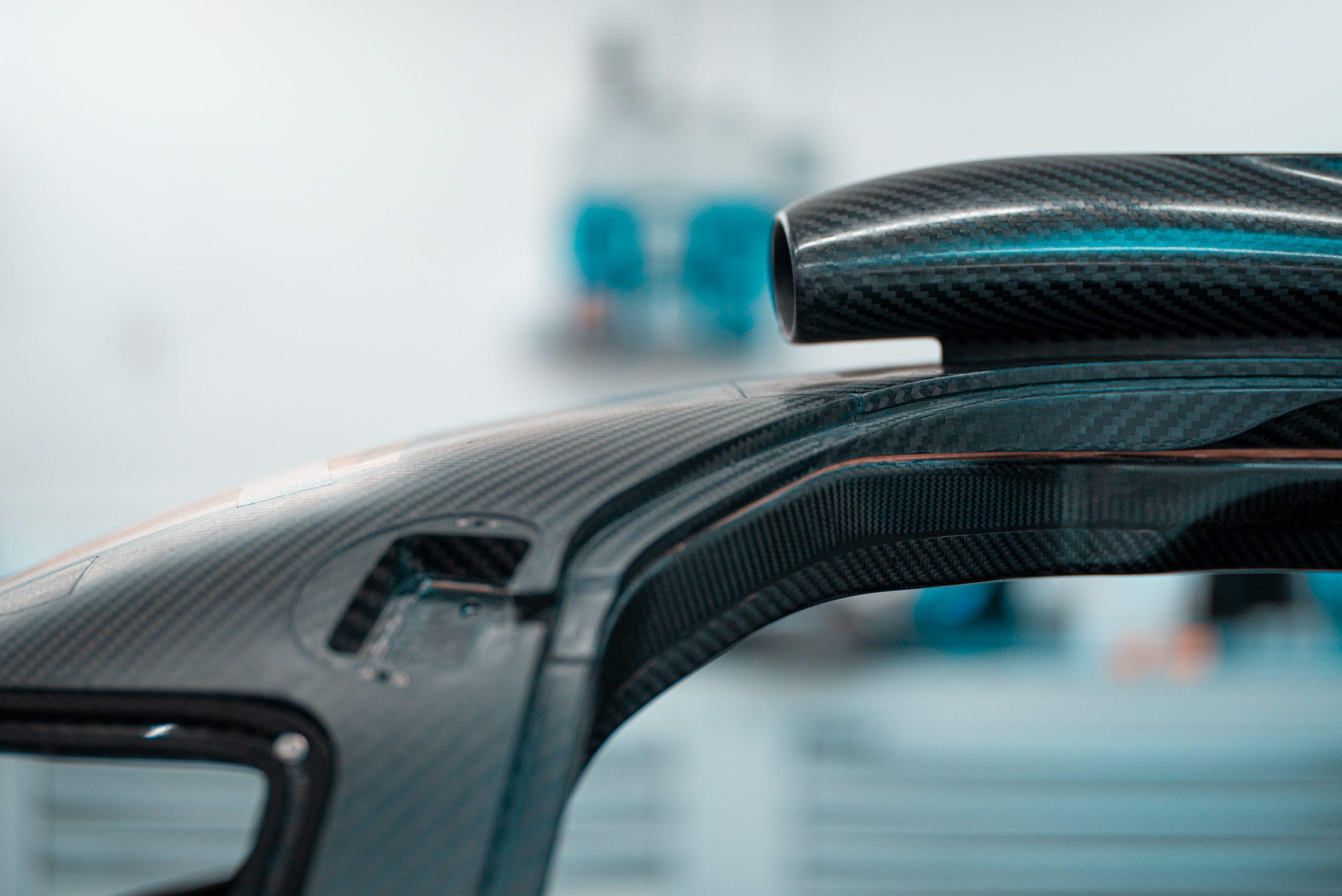 Glickenhaus 007 Hypercar LMH carbon fiber monocoque aero hood scoop
