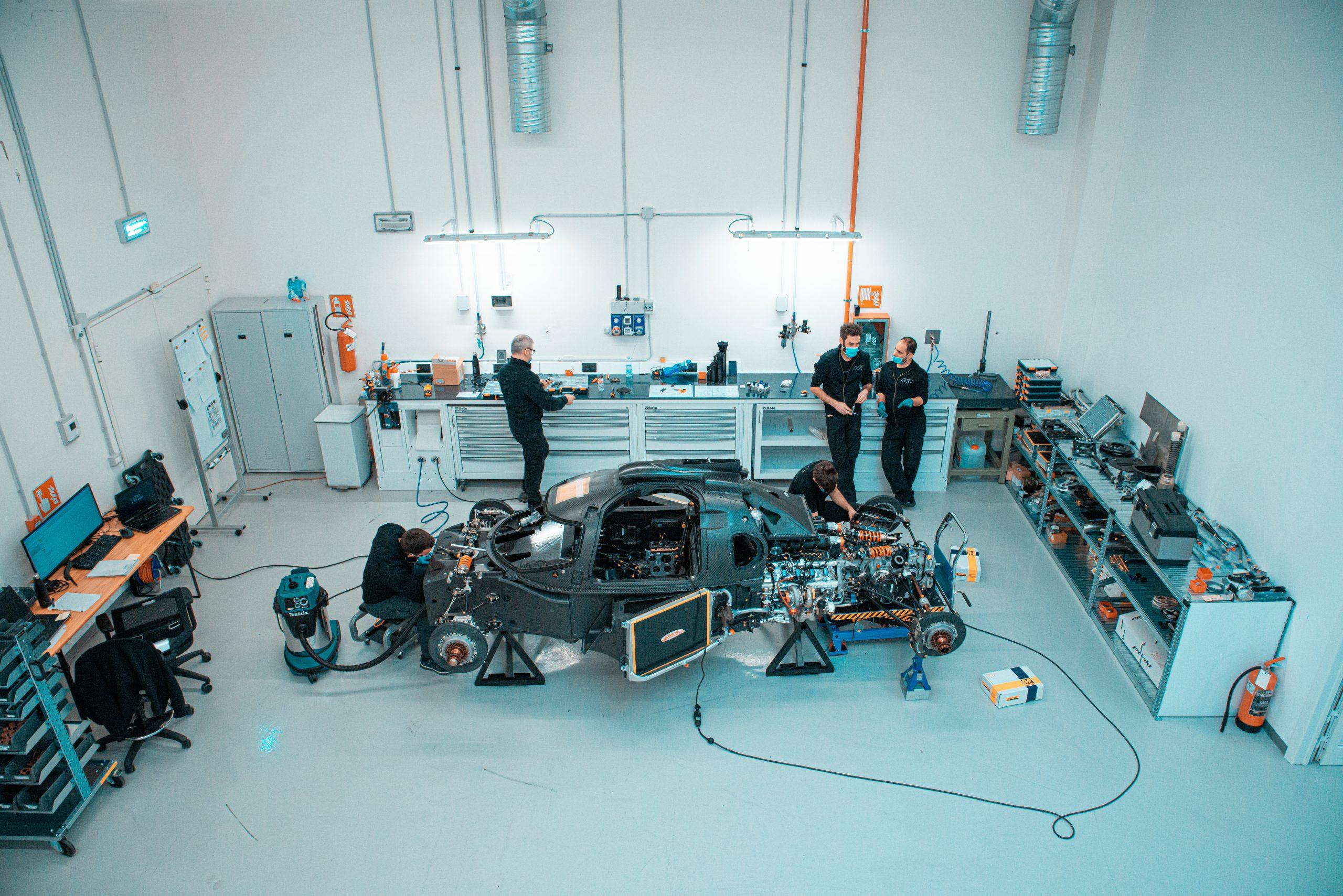 Glickenhaus 007 Hypercar LMH monocoque engine build race shop