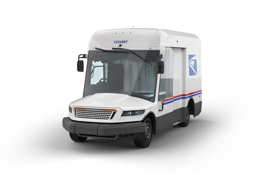 Oshkosh USPS Truck front three-quarter