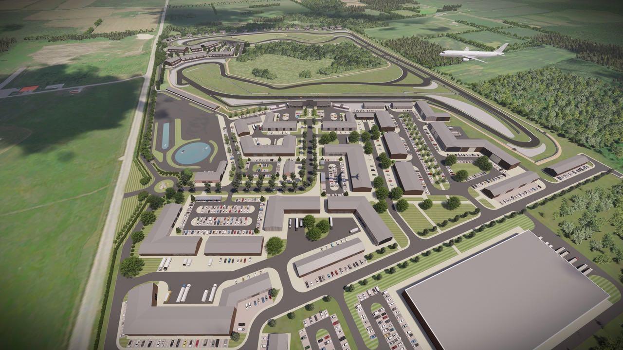 Oro Station aeriel render track overhead