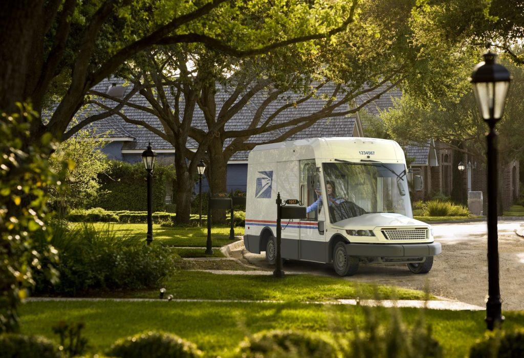 Oshkosh USPS Truck suburbs delivery mock up