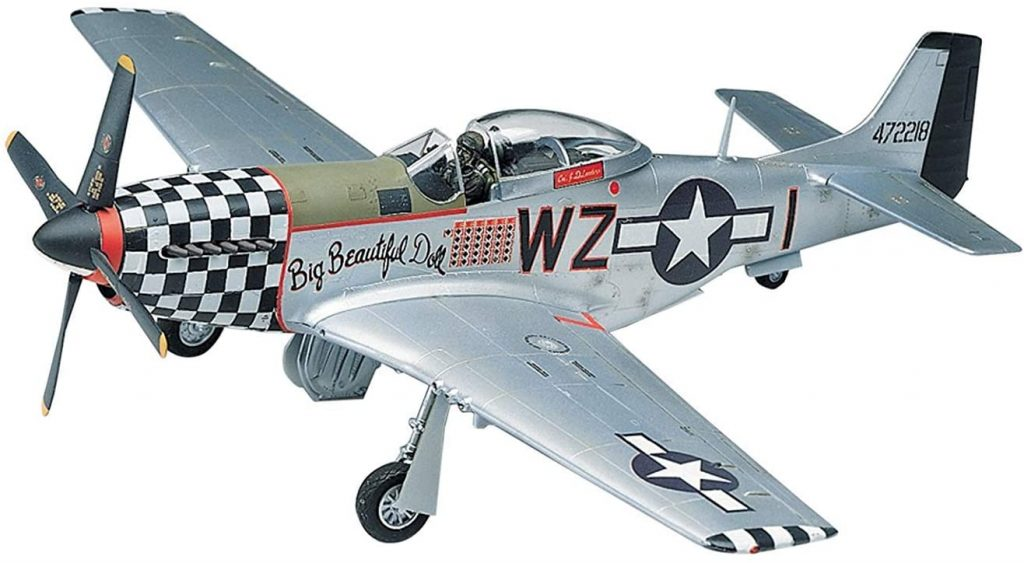 P51D Mustang american fighter plane