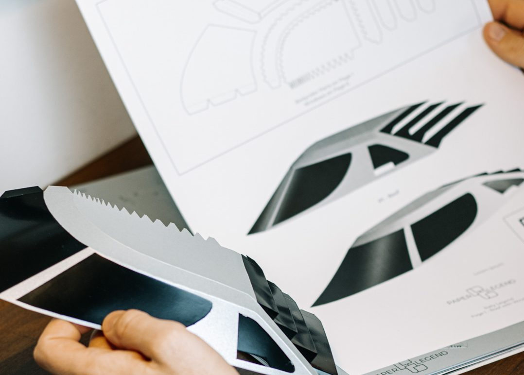 automotive paper sculptor pieces and mold