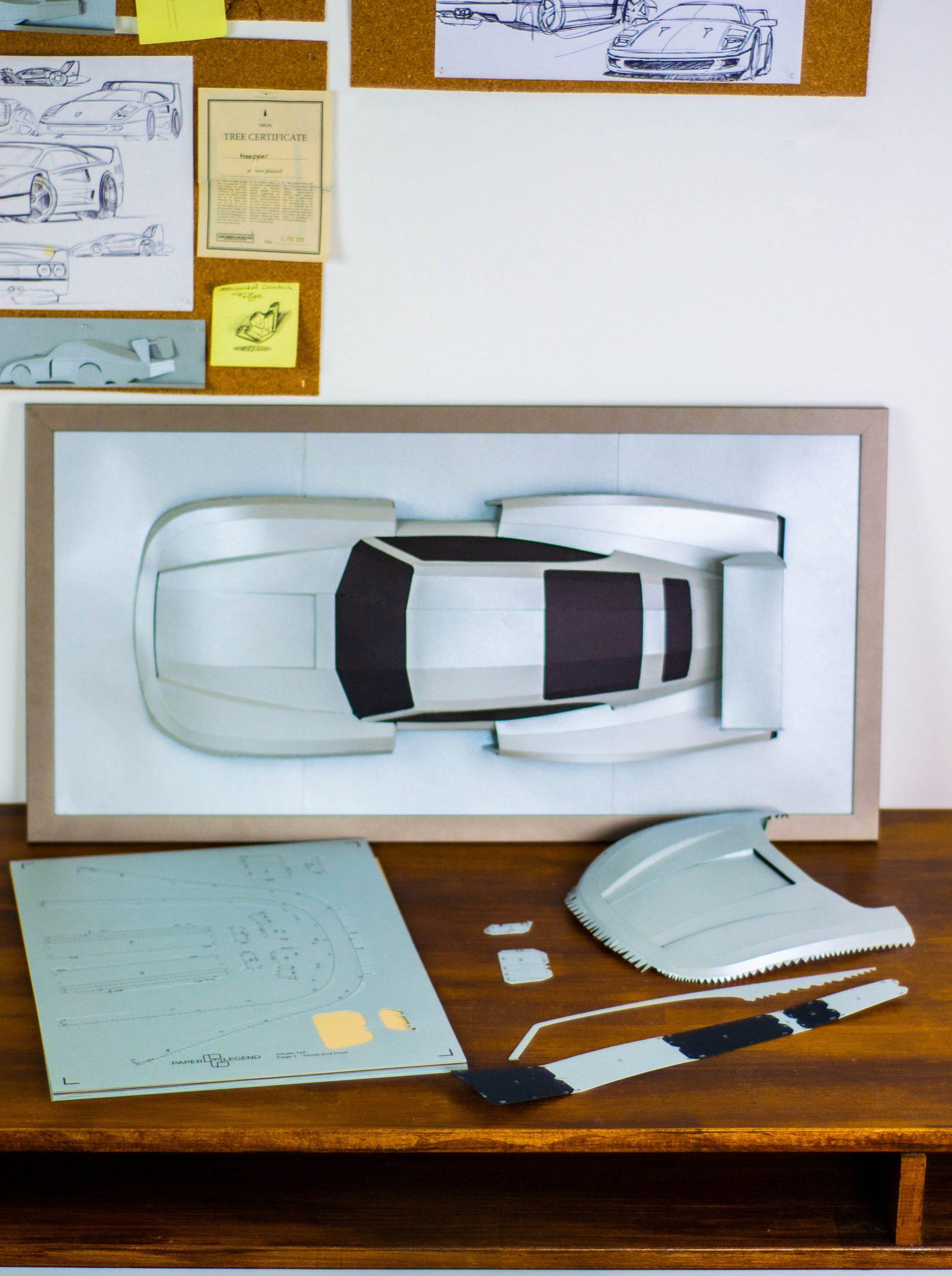 automotive paper sculptor template