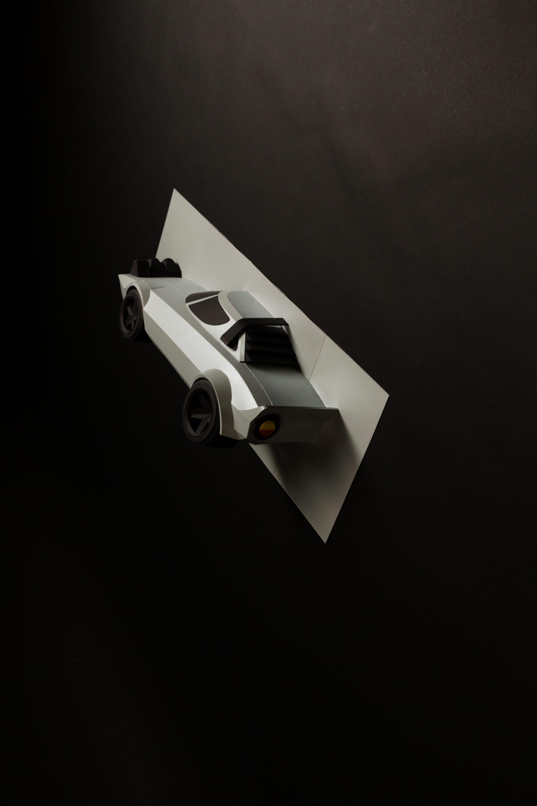 automotive paper sculptor rear half