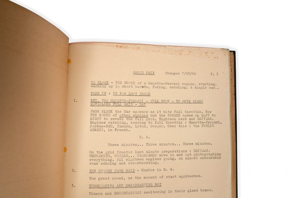 grand prix screenplay page one