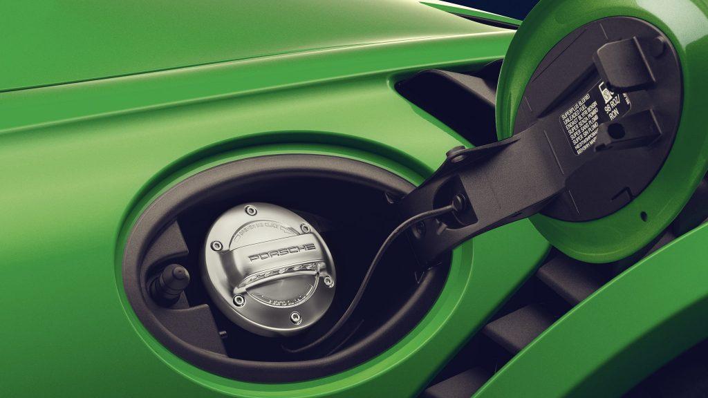Porsche Fuel Cap detail close