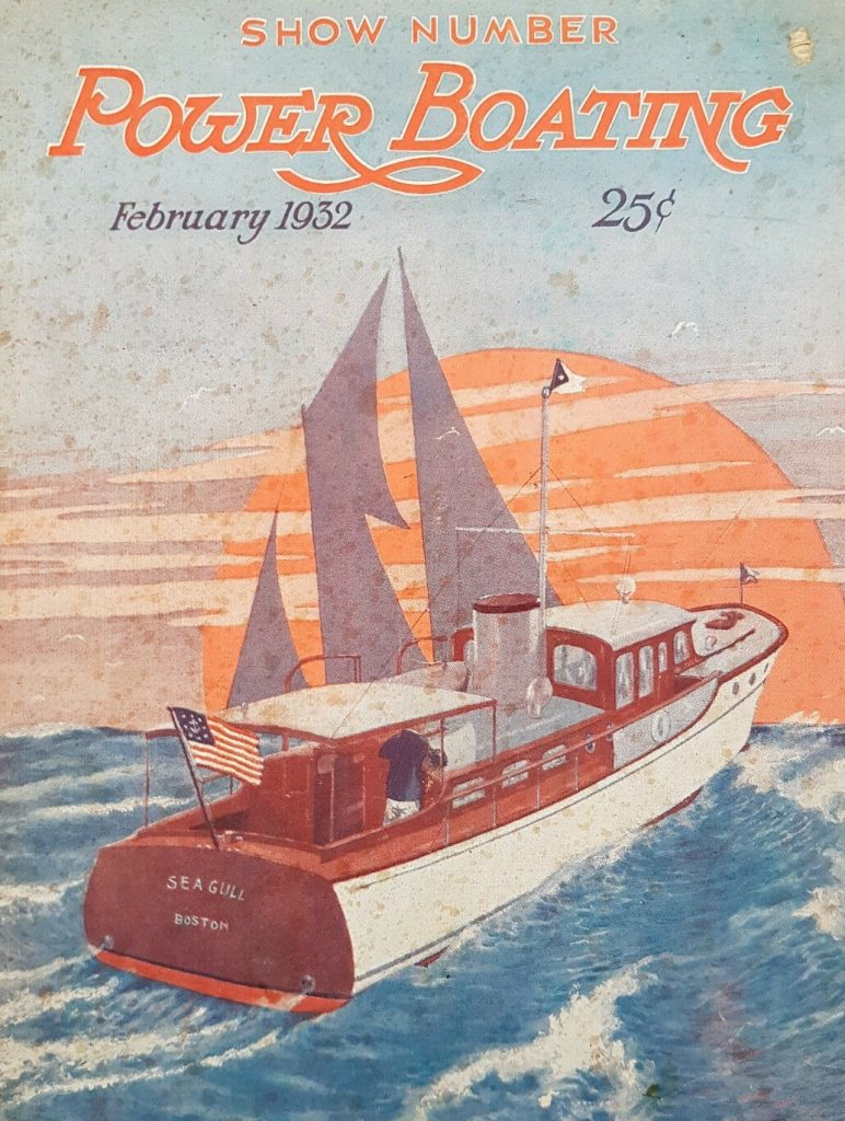 Power Boating magazine cover - February 1932