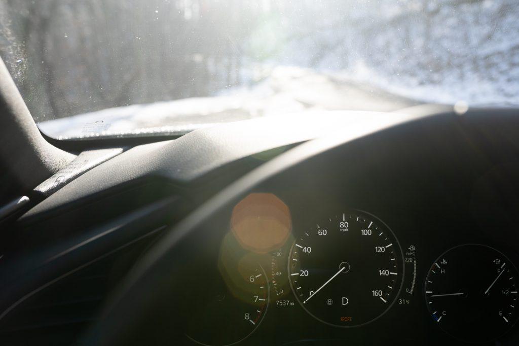 2021 Mazda 3 2.5T AWD interior dash gauges detail