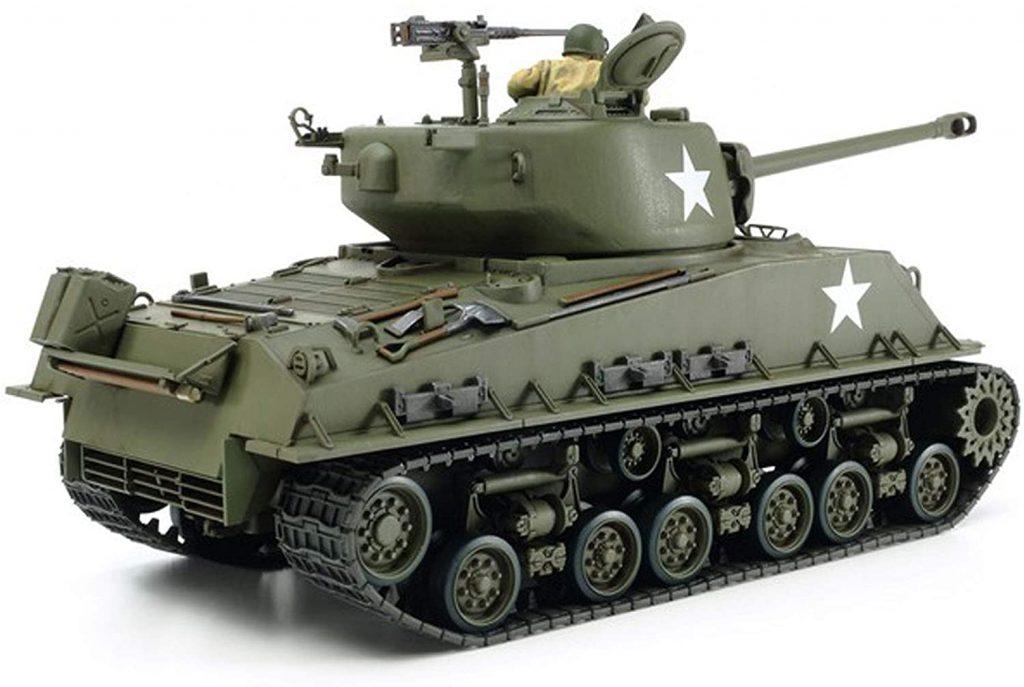 Sherman Tank WWII scale model rear three-quarter