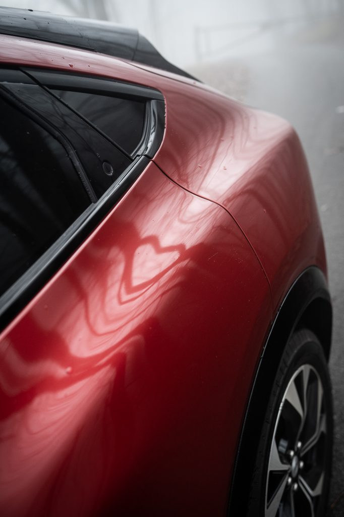 Ford Mustang Mach E rear quarter seam