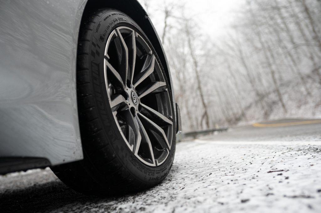 Toyota Supra front wheel detail