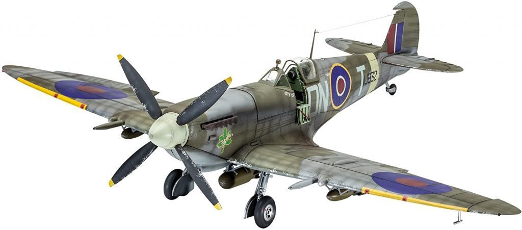 Supermarine Spitfire plane front three-quarter scale model
