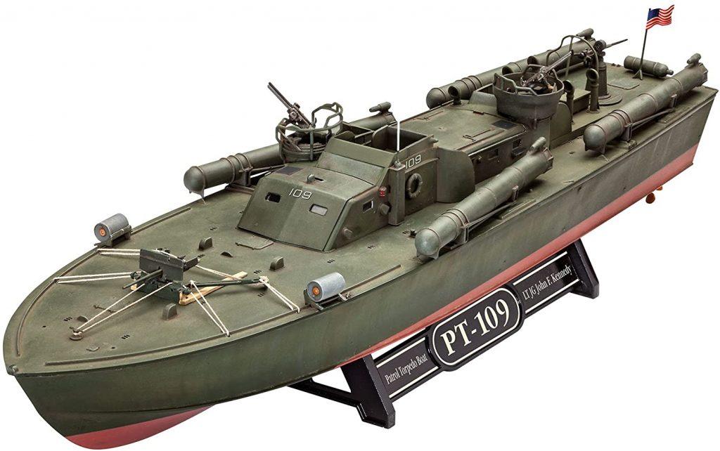 PT 109 Patrol Torpedo Boat front three-quarter