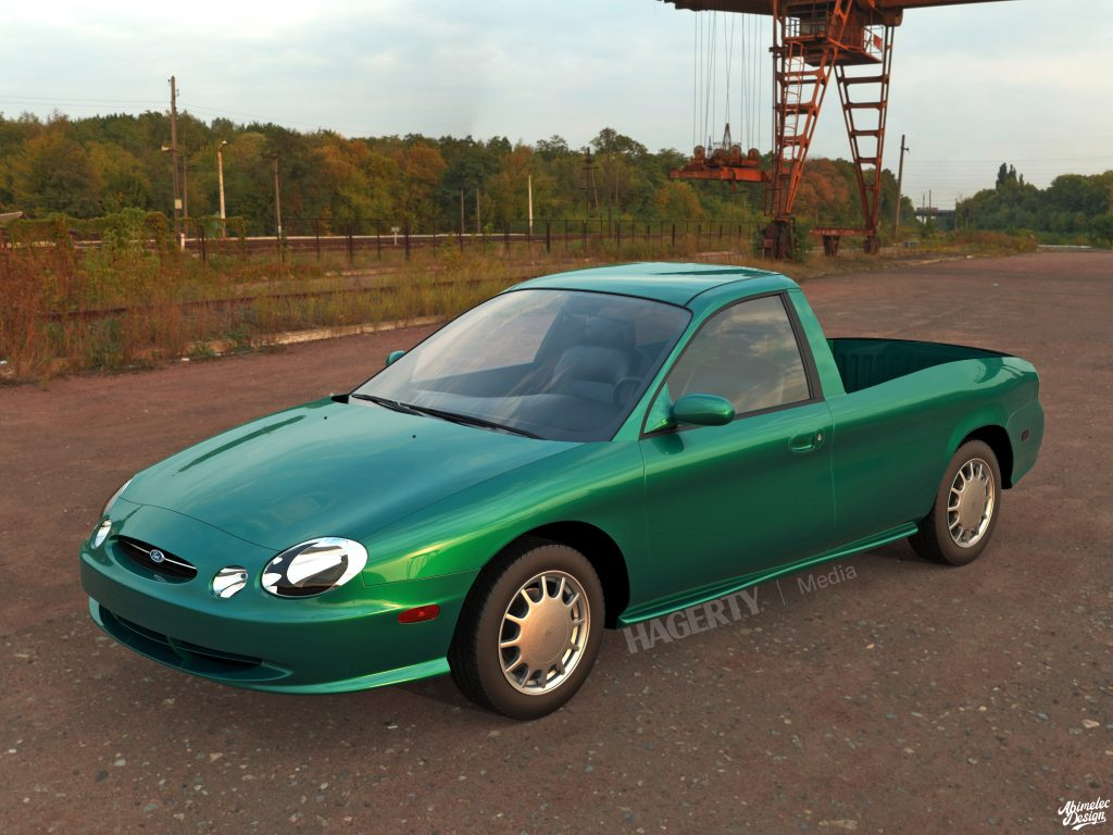 Ford Taurus Ranchero Render front three-quarter green