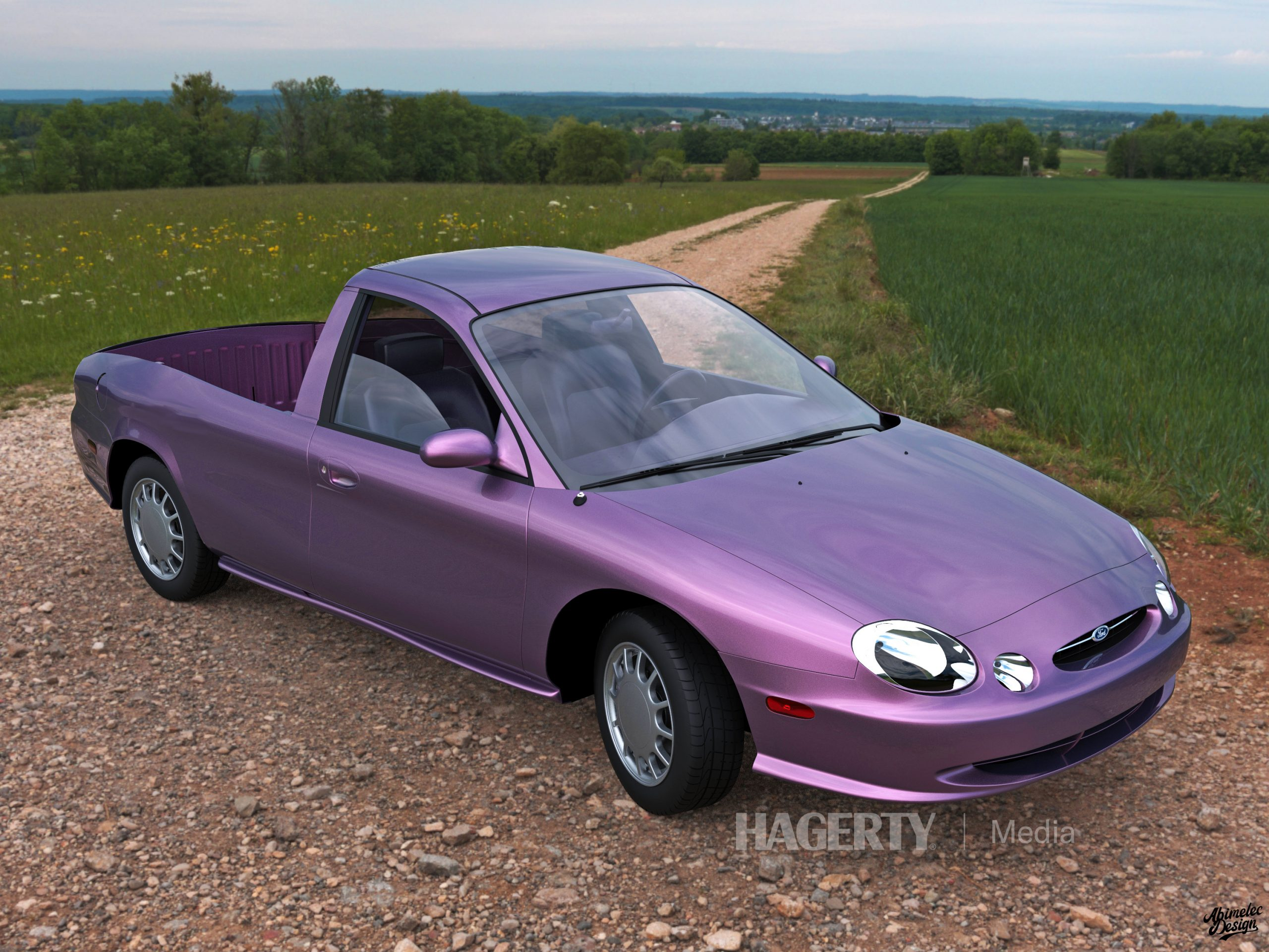 Ford Taurus Ranchero Render front three-quarter purple