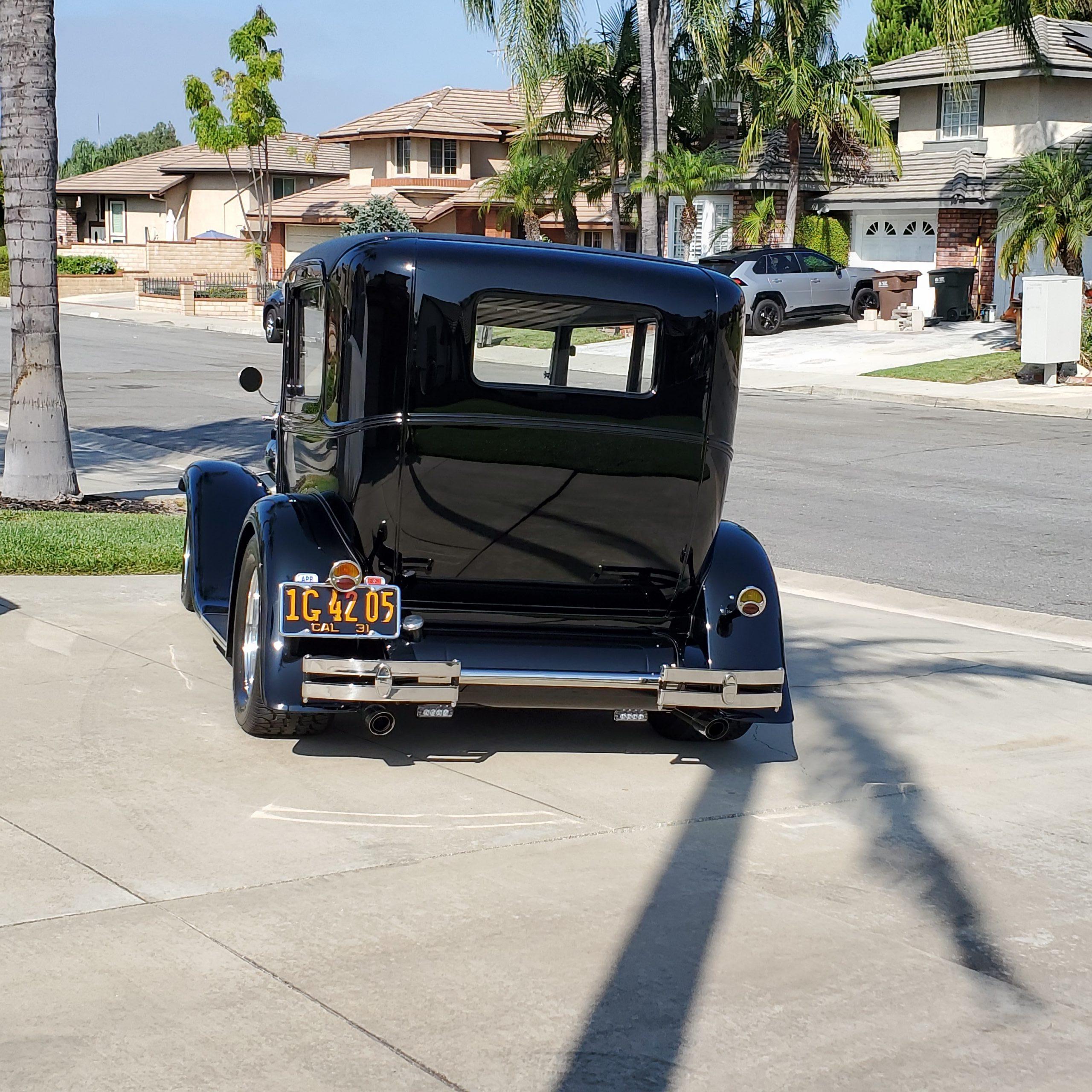 1931 Ford Tudor Model A hot rod rear