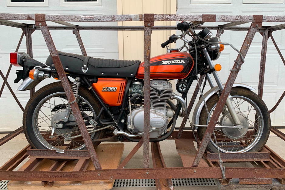 honda CL360 BaT crate