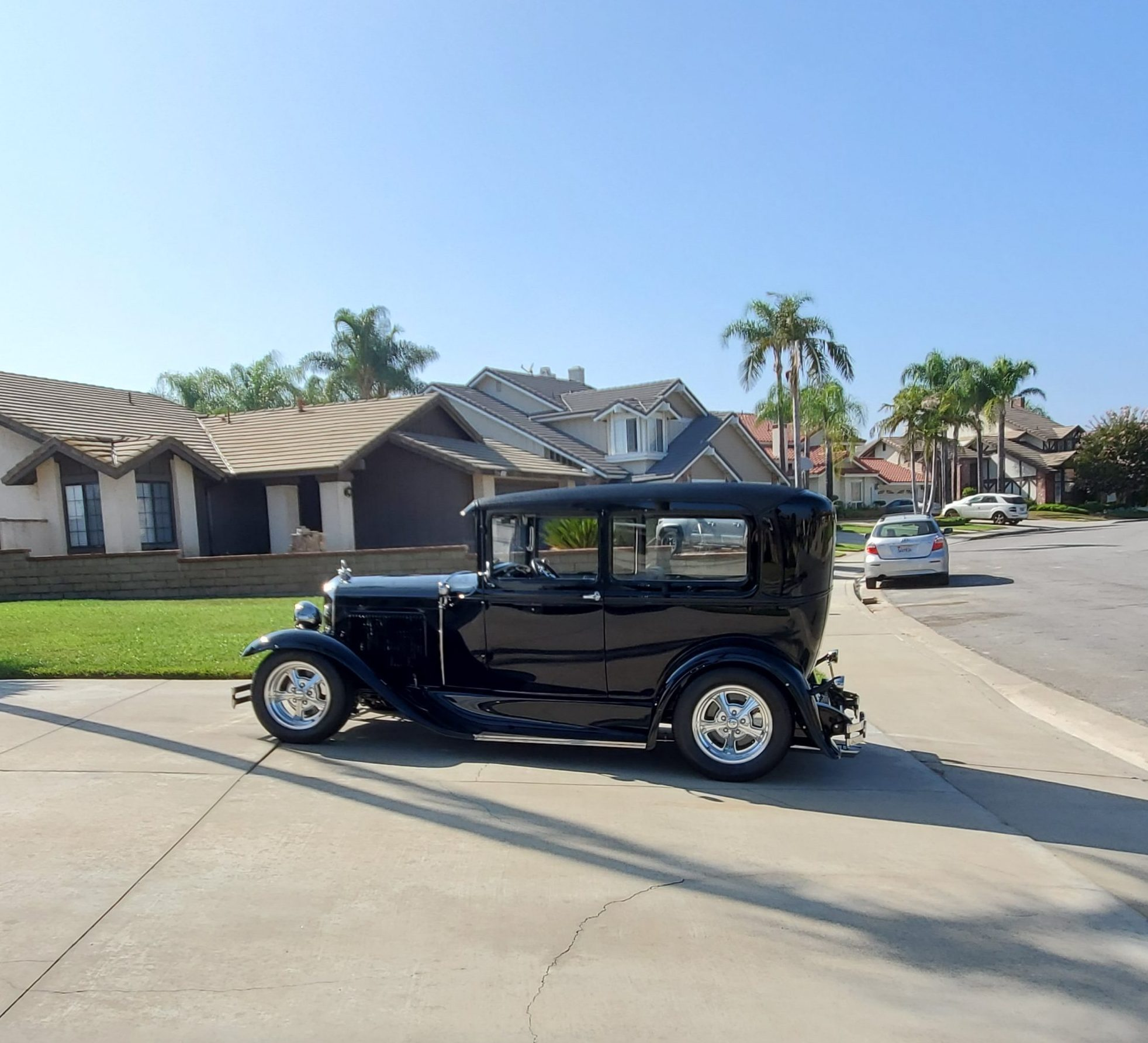 1931 Ford Model A Tudor coupe hot rod profile
