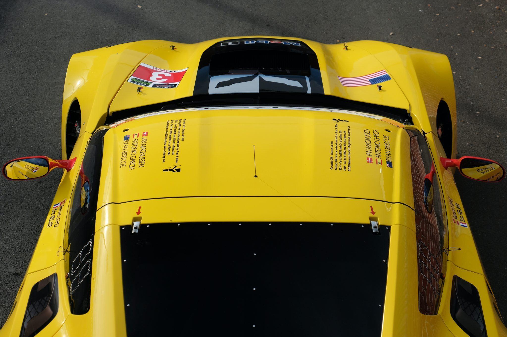 corvette c7.r overhead hood