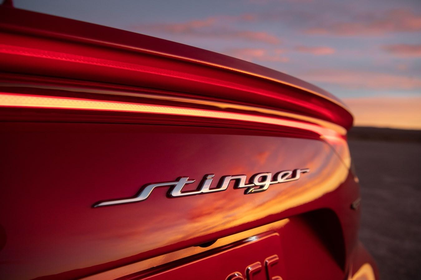 2022 Stinger GT rear lettering
