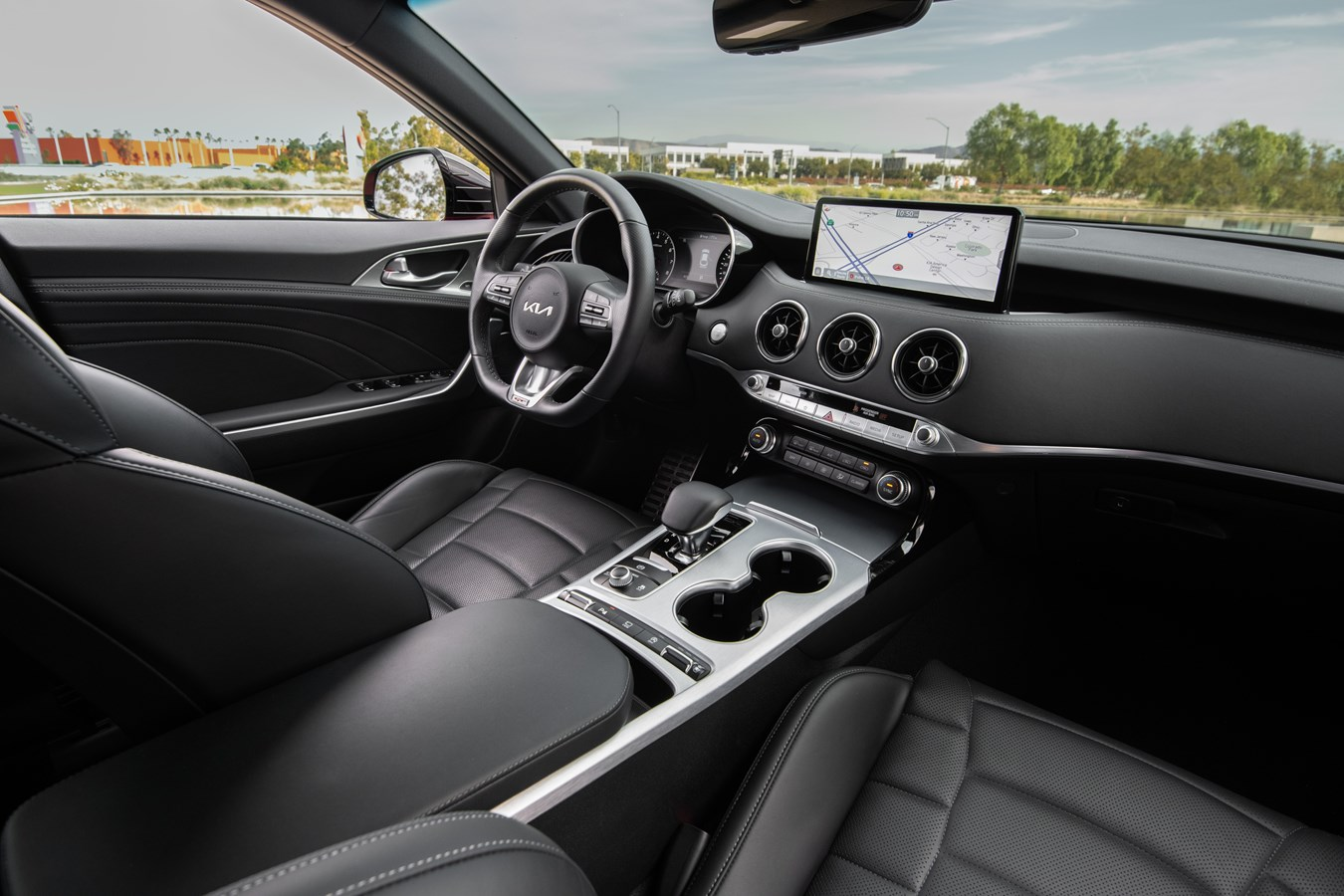 2022 Stinger GT interior front angle