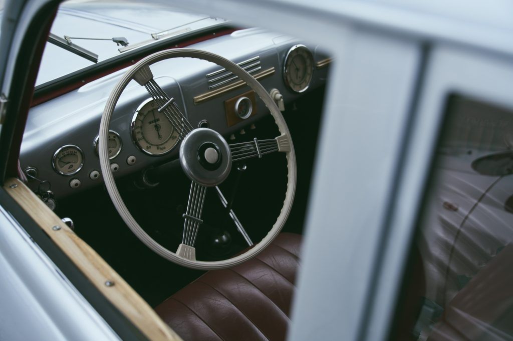 1947 Tatra T87 interior through window