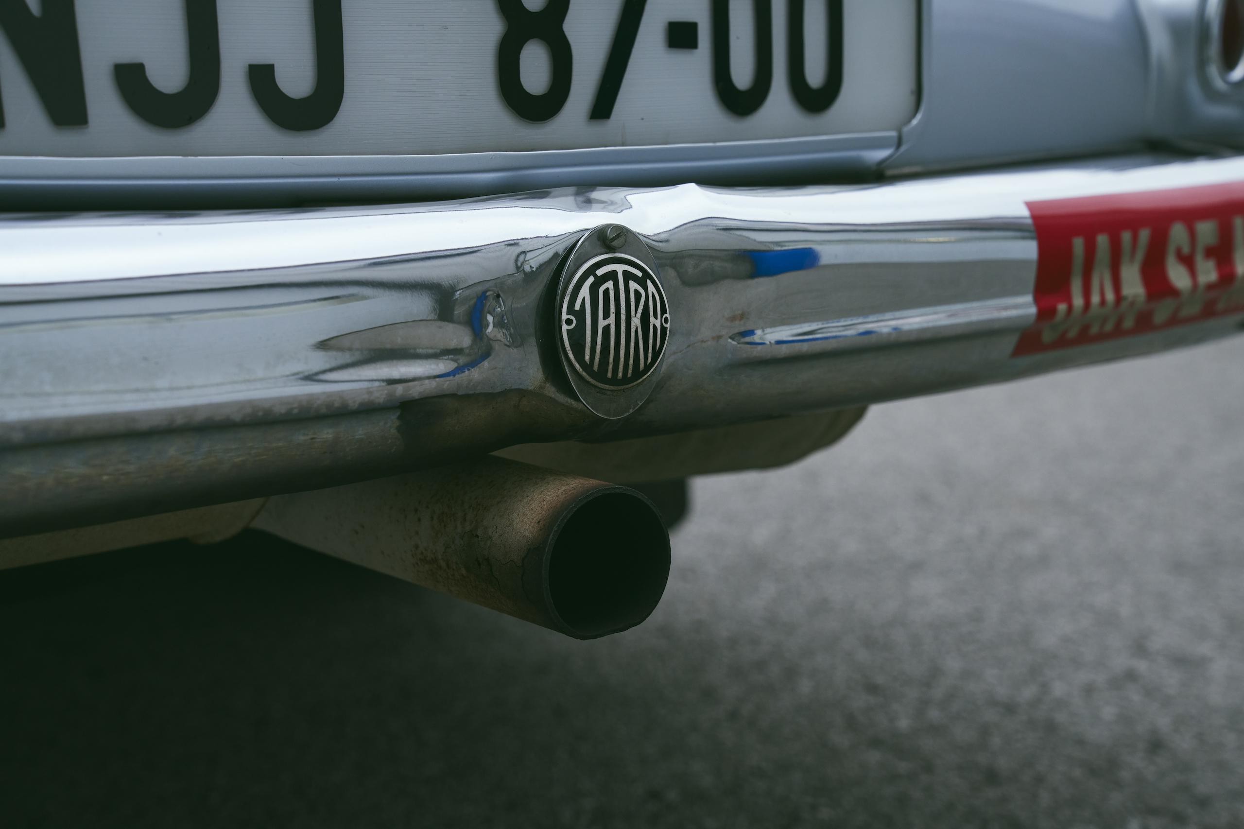 1947 Tatra T87 rear tailpipe detail