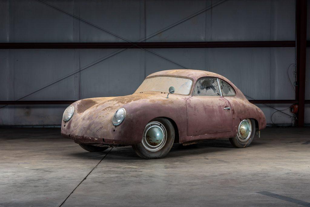 1953 Porsche 356 Coupe Barn Find front three-quarter