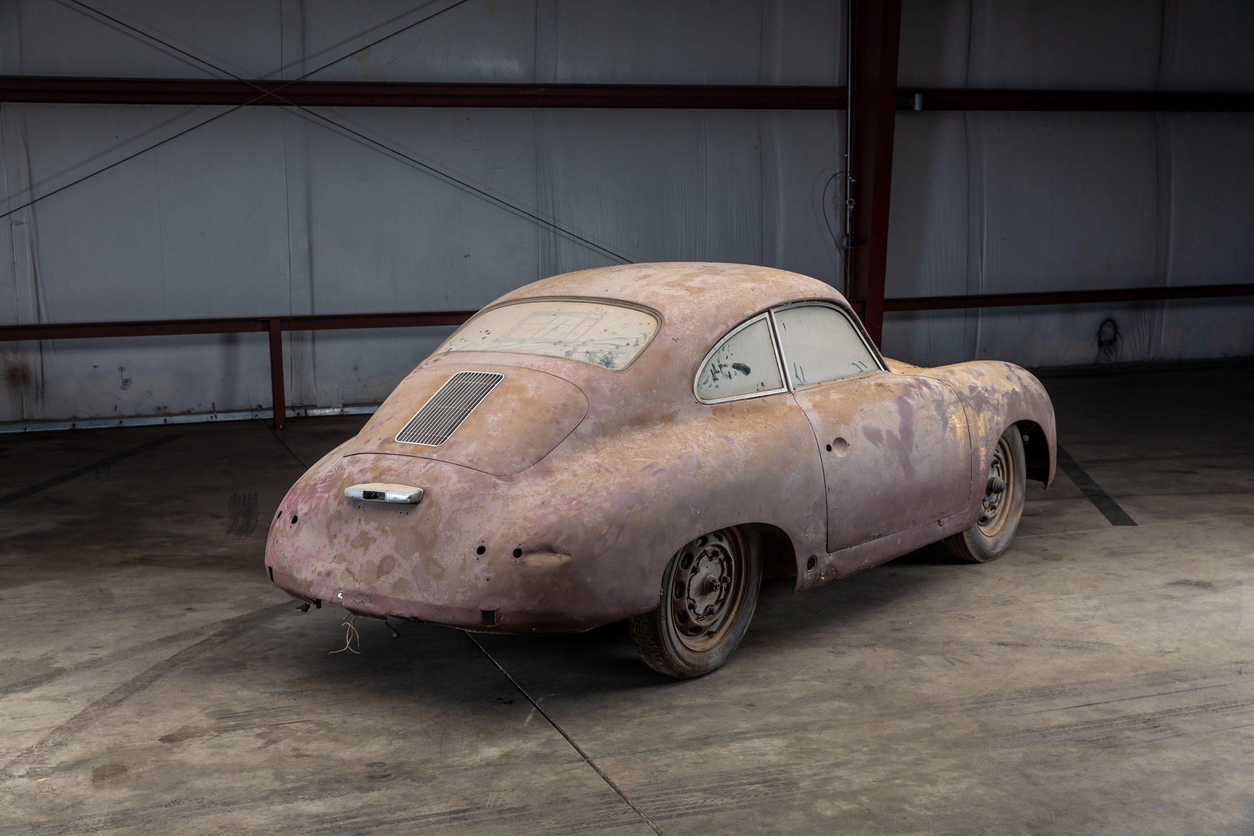 1953 Porsche 356 Coupe Barn Find rear three-quarter