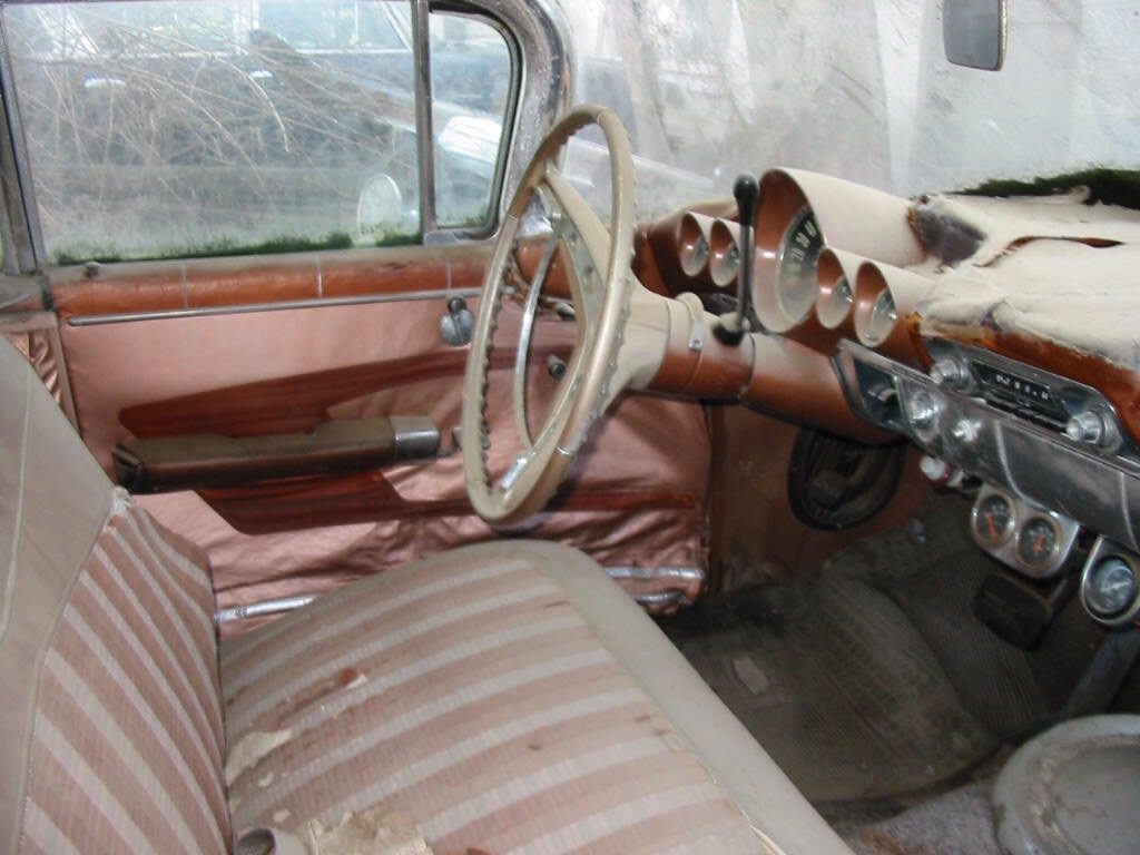 1959 Chevrolet Impala unrestored interior