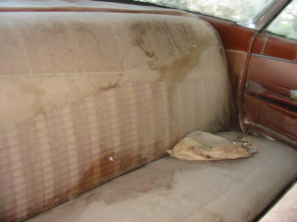 1959 Chevrolet Impala interior unrestored rear seat