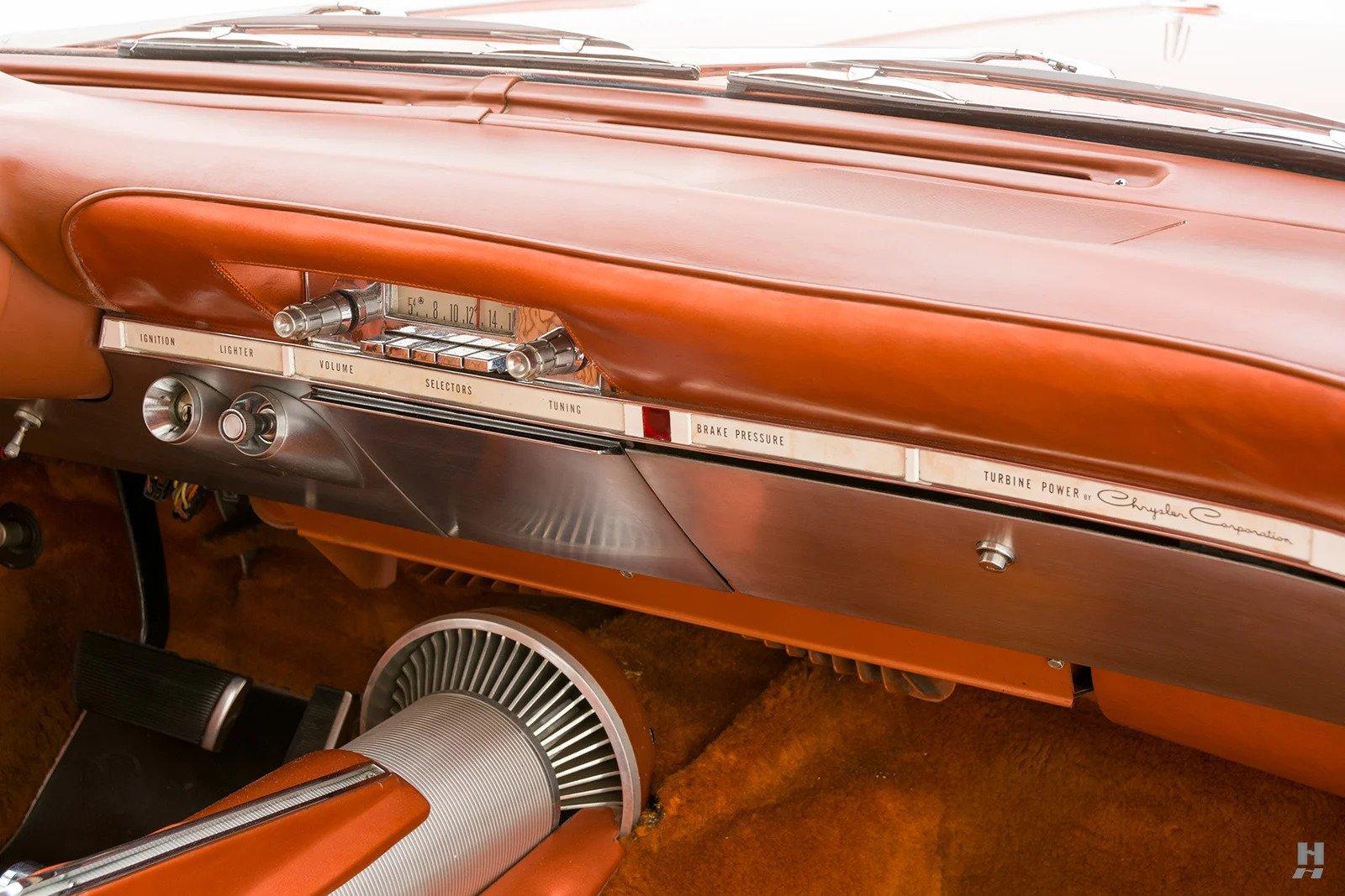 1963 Chrysler Turbine Car engine bay interior dash