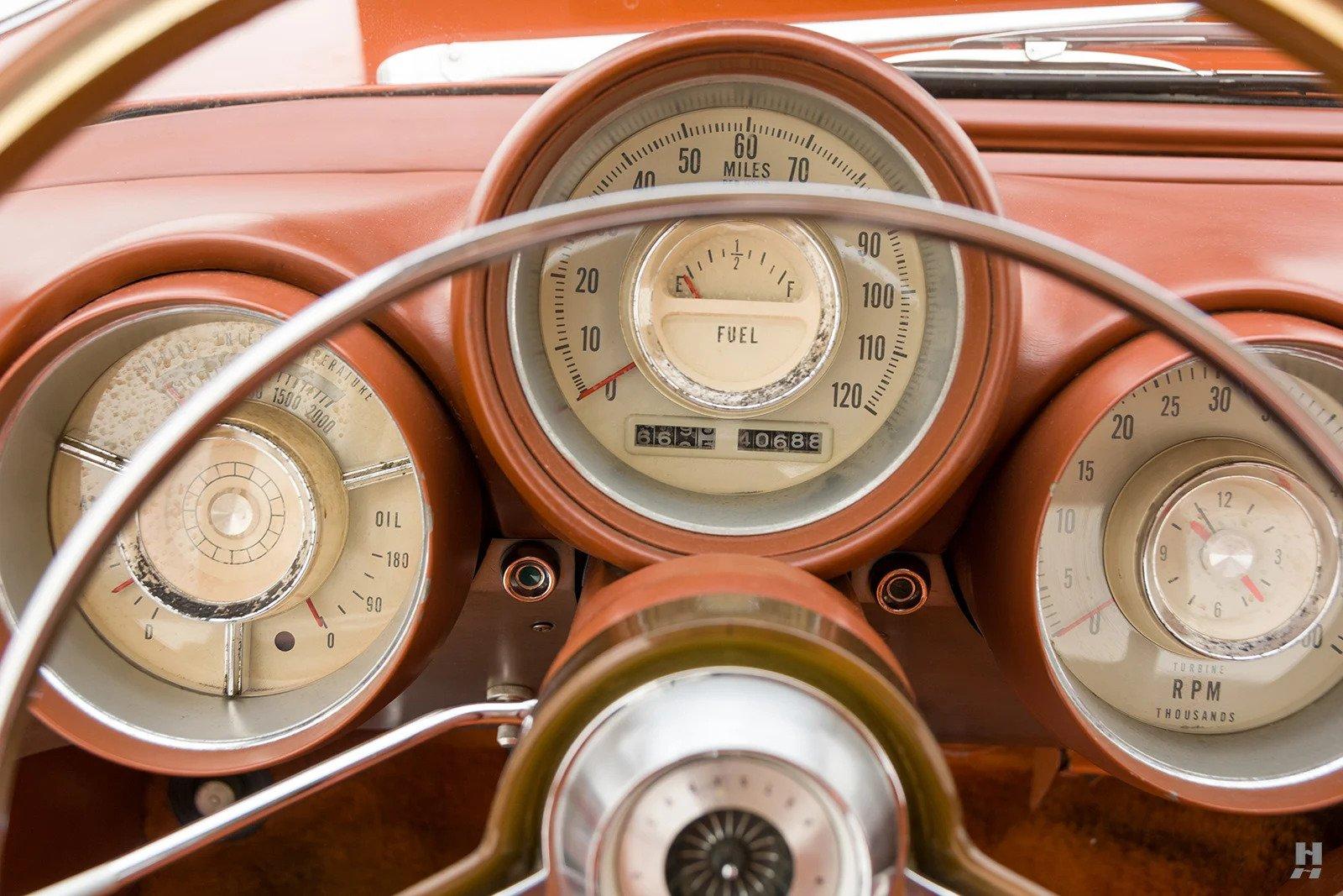 1963 Chrysler Turbine Car interior gauges