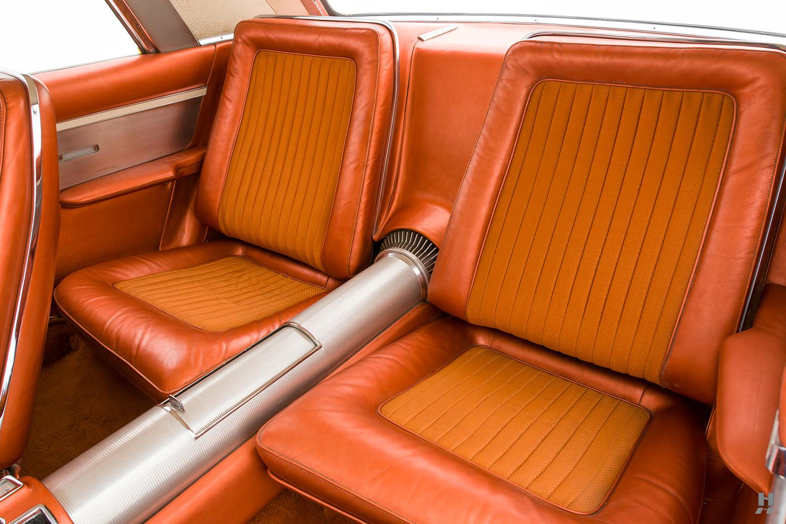 1963 Chrysler Turbine Car interior back seat