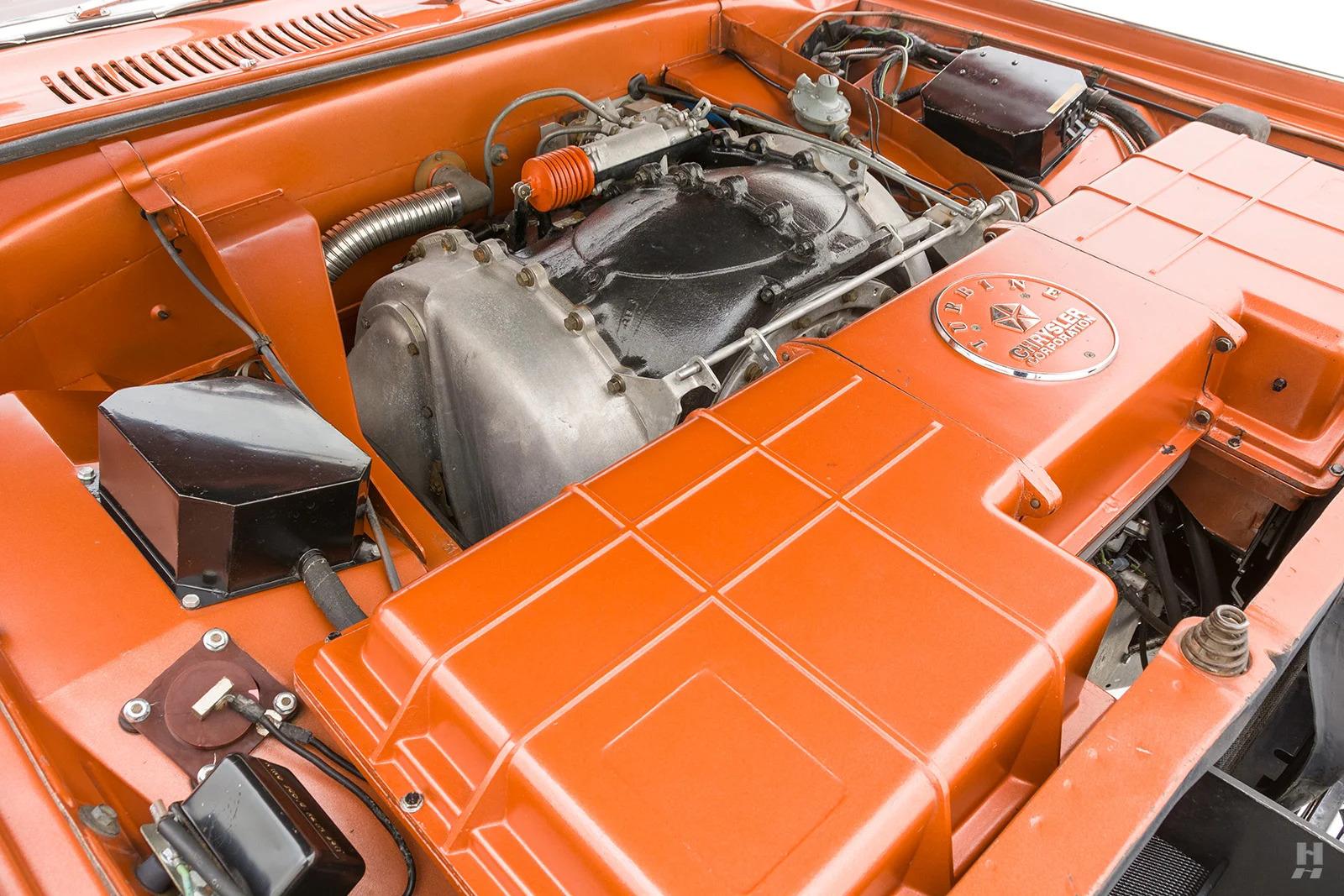 1963 Chrysler Turbine Car engine bay