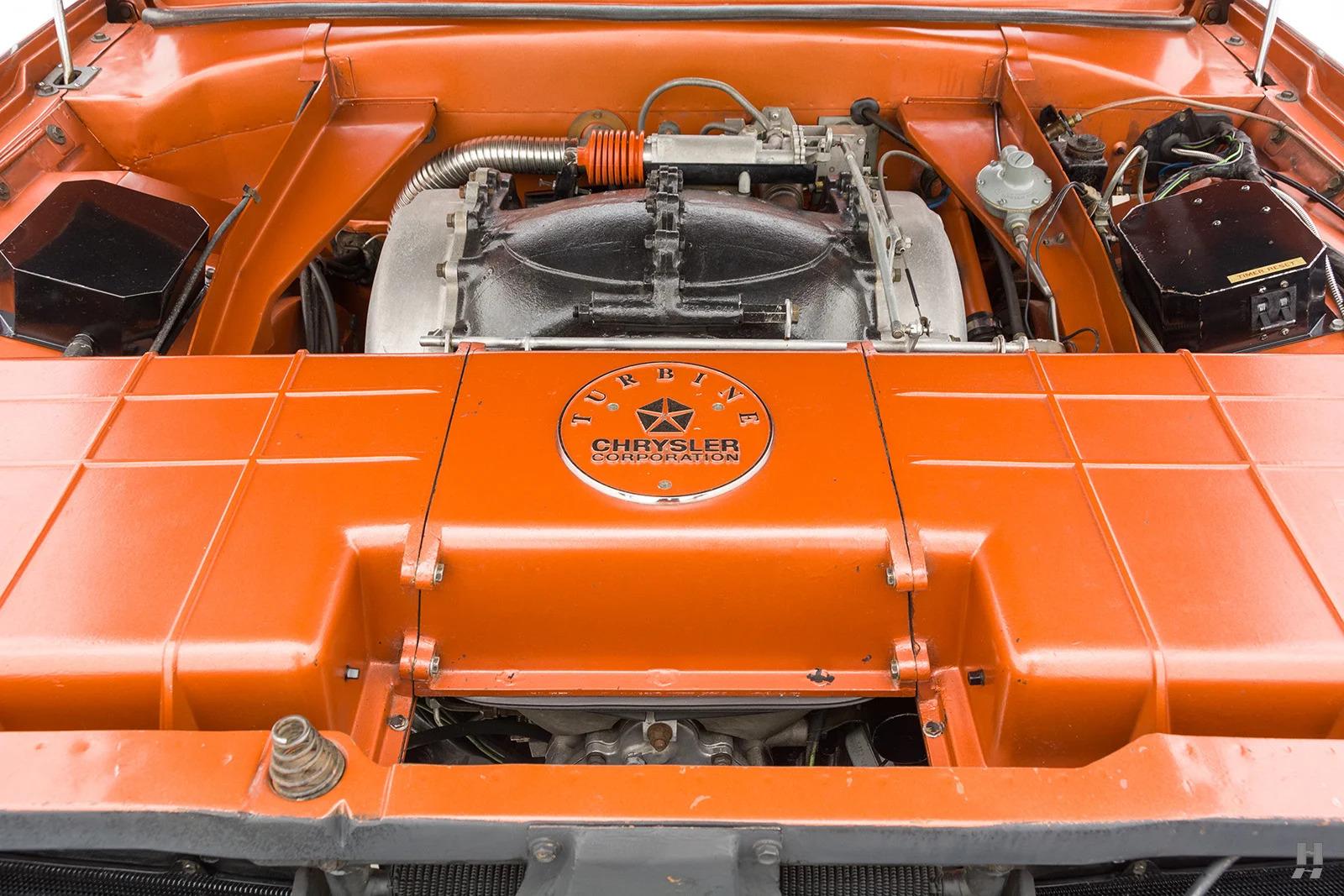 1963 Chrysler Turbine Car engine bay front
