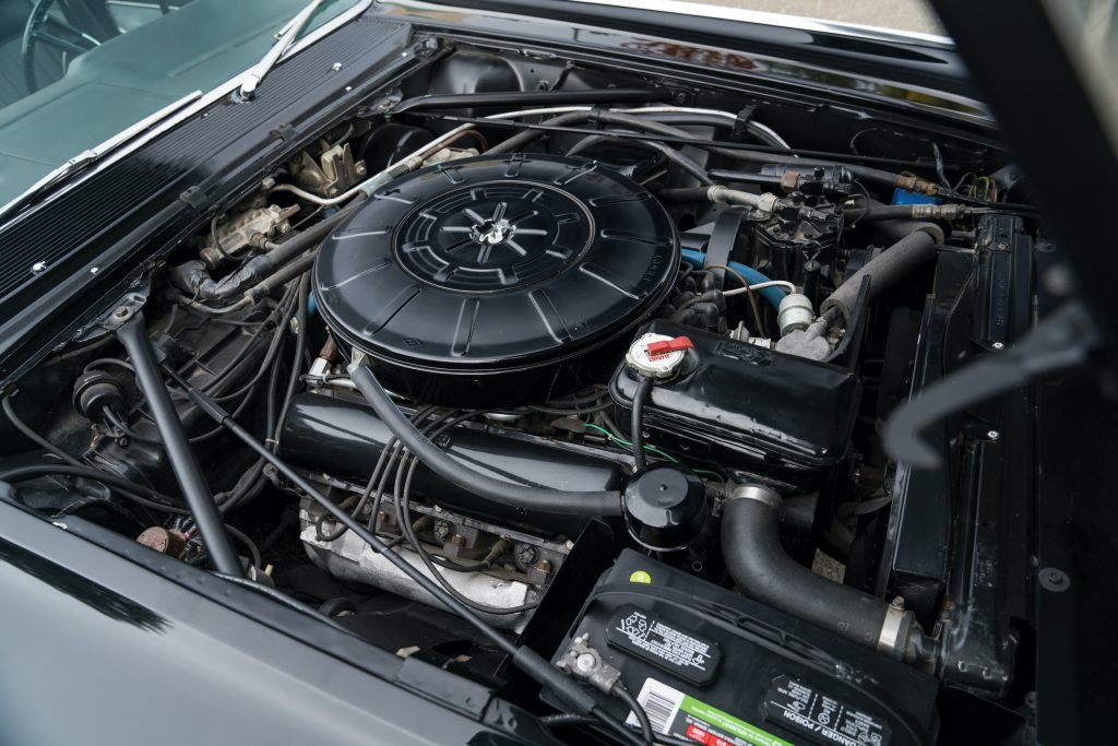 1963 Lincoln Continental engine bay