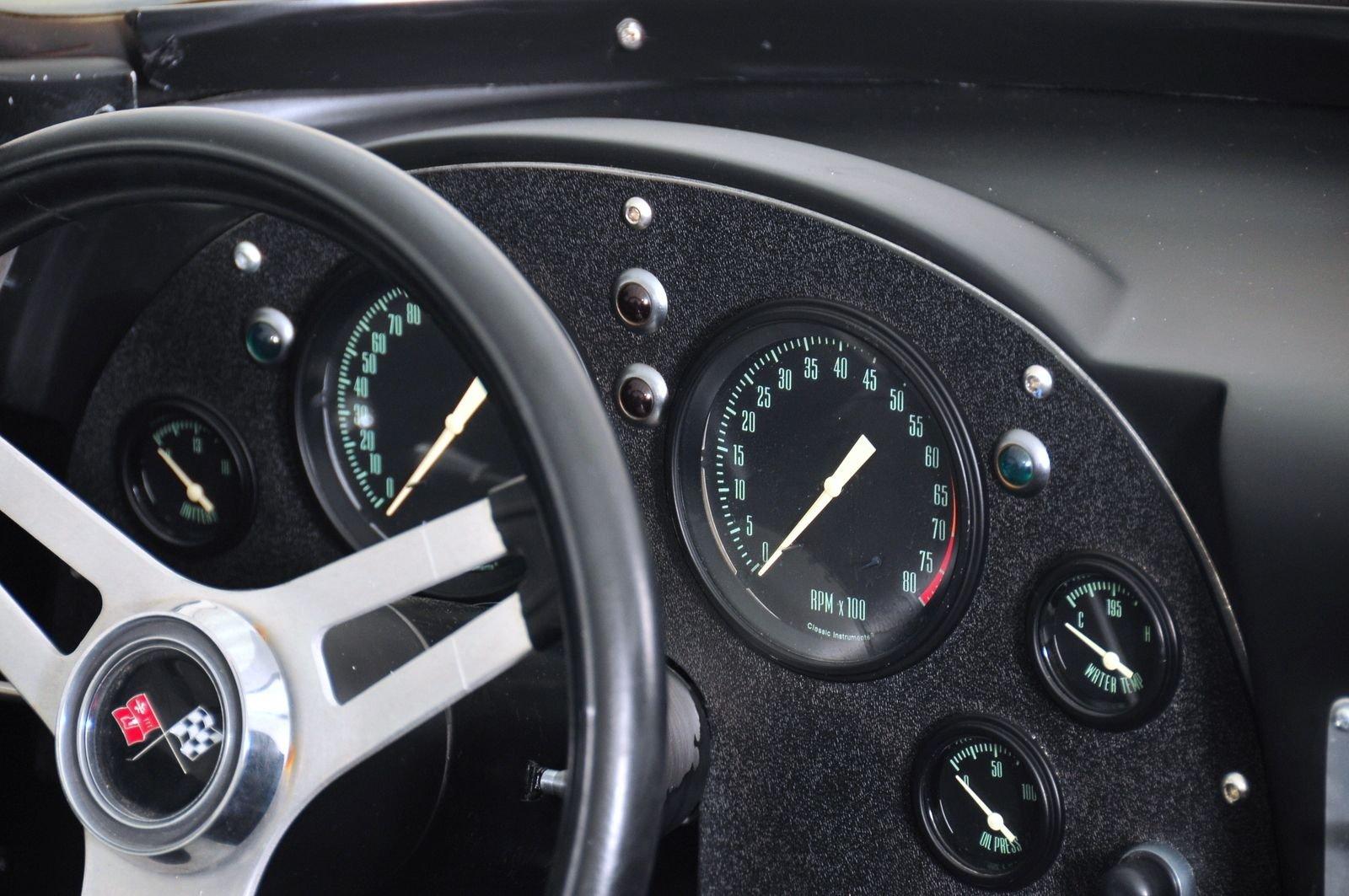 1963 Chevrolet Corvette Mongoose Motorsports Grand Sport Fast Five gauge instruments interior dash