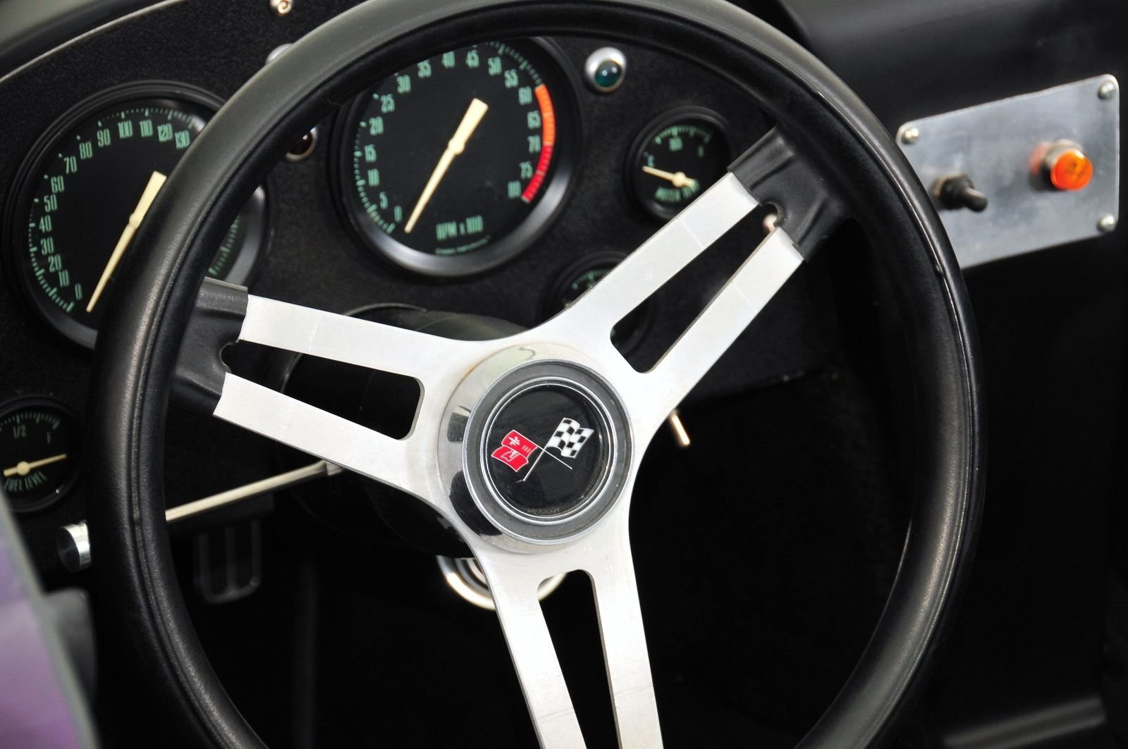 1963 Chevrolet Corvette Mongoose Motorsports Grand Sport Fast Five interior steering wheel