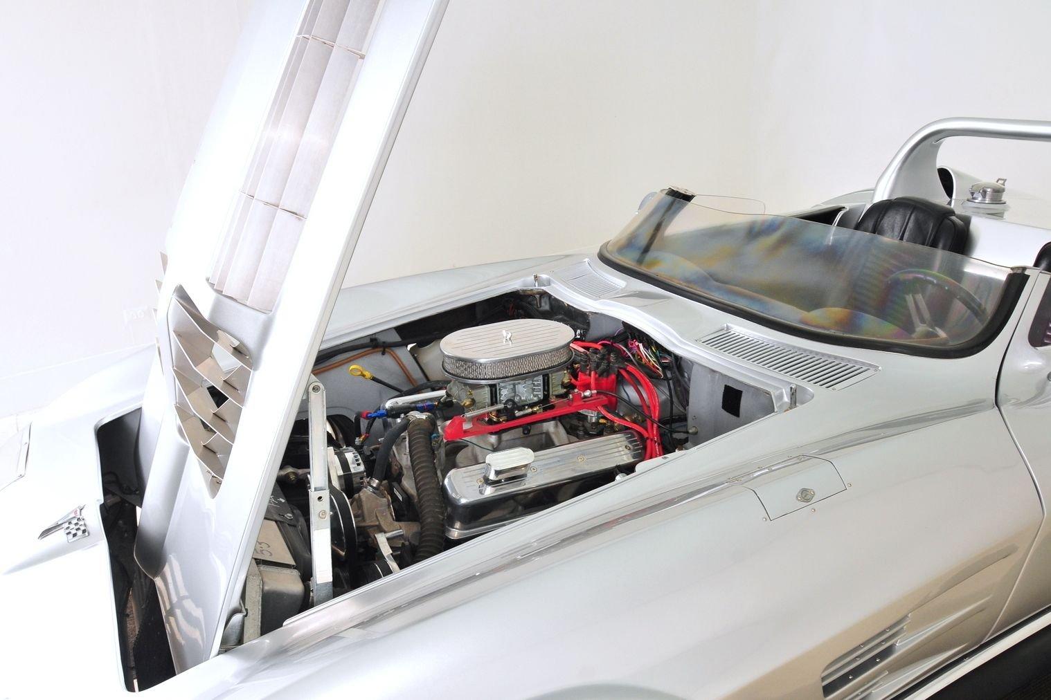 1963 Chevrolet Corvette Mongoose Motorsports Grand Sport Fast Five engine bay