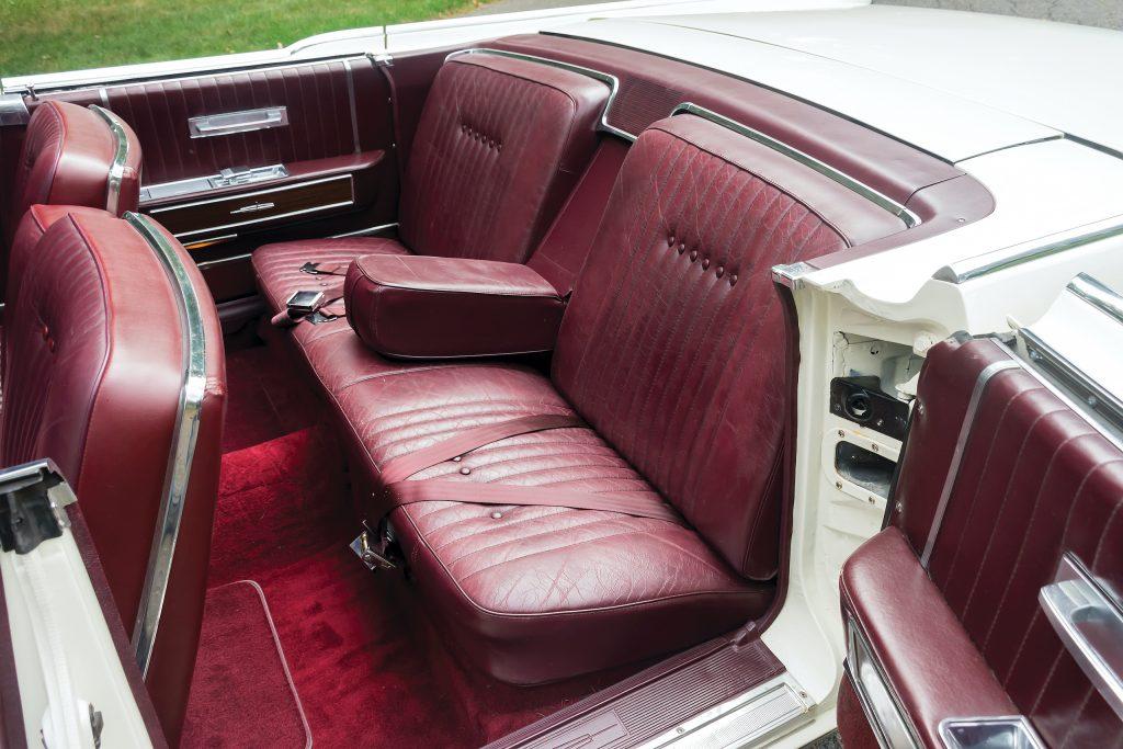 1964 Lincoln Continental interior rear seat