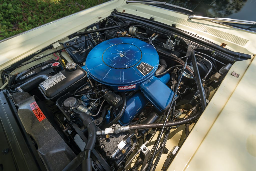 1966 Lincoln Continental engine bay