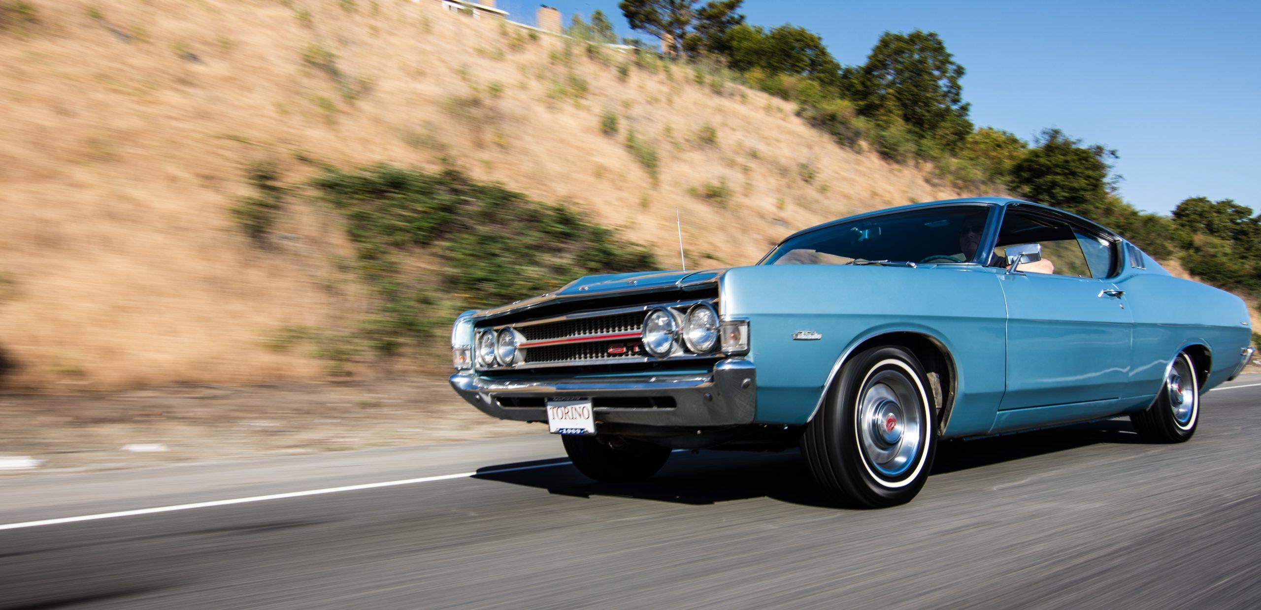 1969 Ford Torino action shot