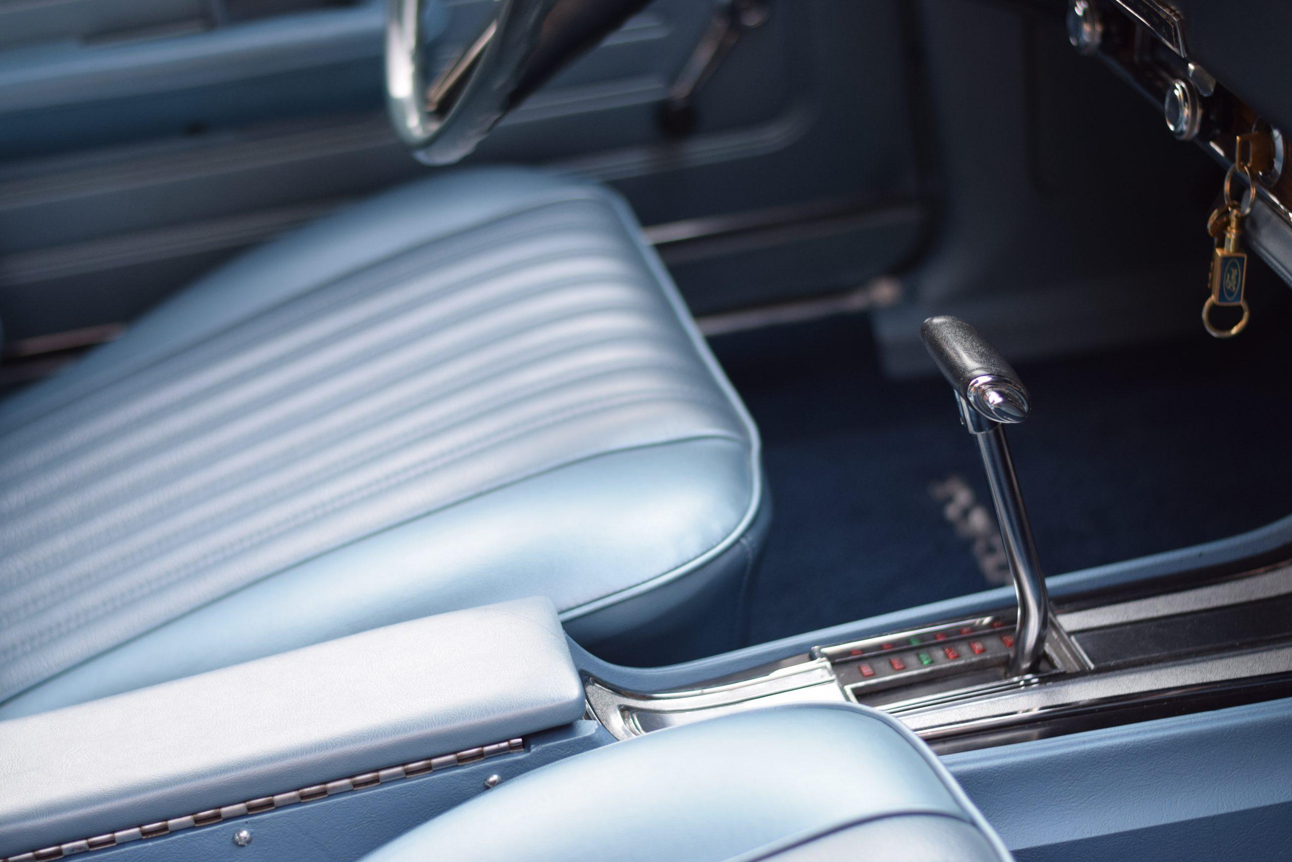 1969 Ford Torino interior 3 speed shifter