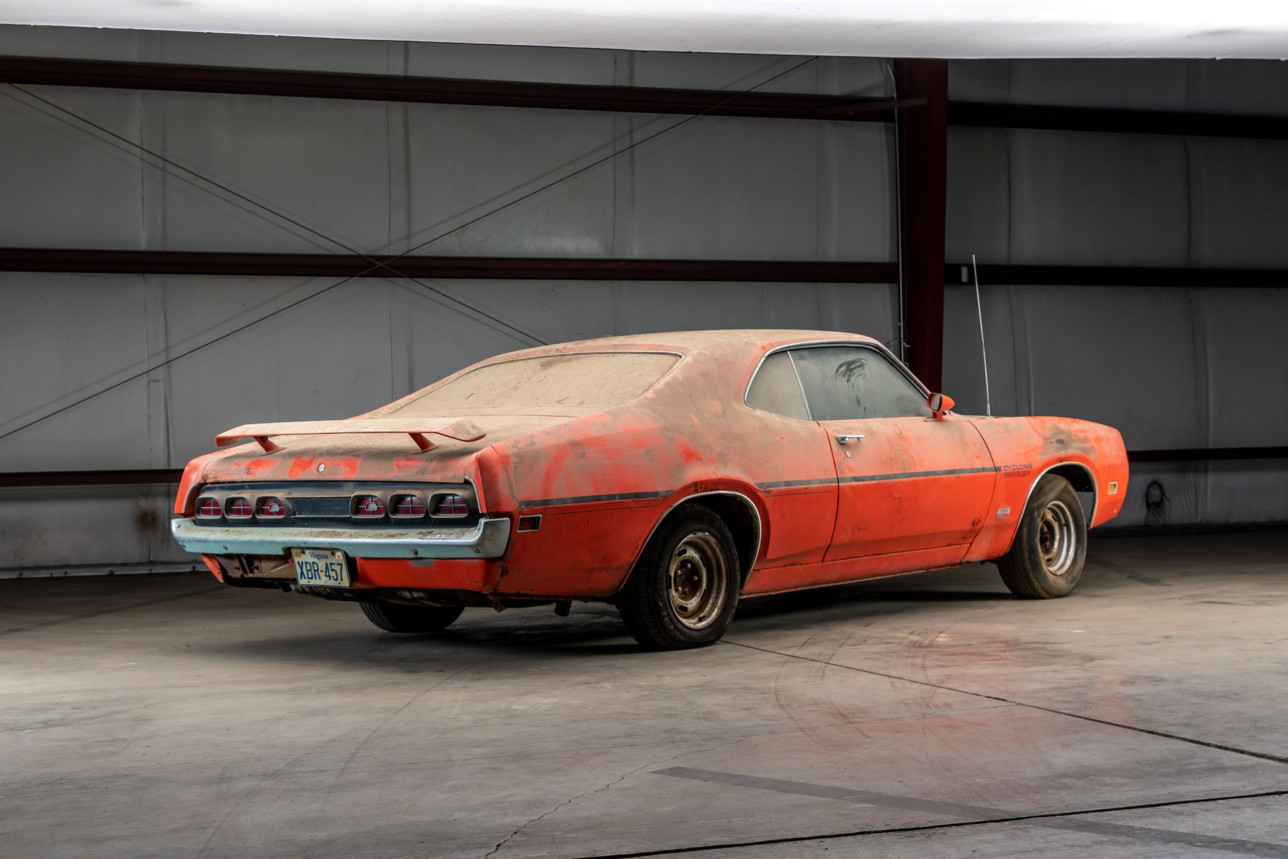 1970 Mercury Cyclone Spoiler Barn Find rear three-quarter