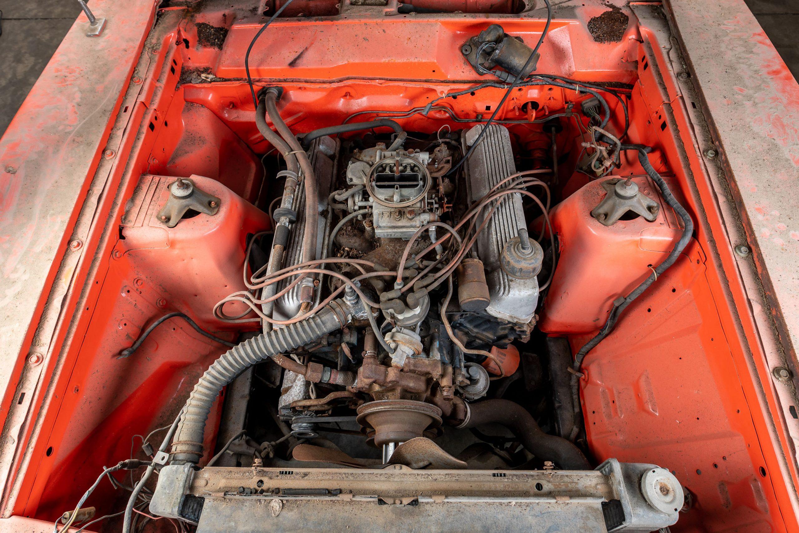 1970 Mercury Cyclone Spoiler Barn Find engine