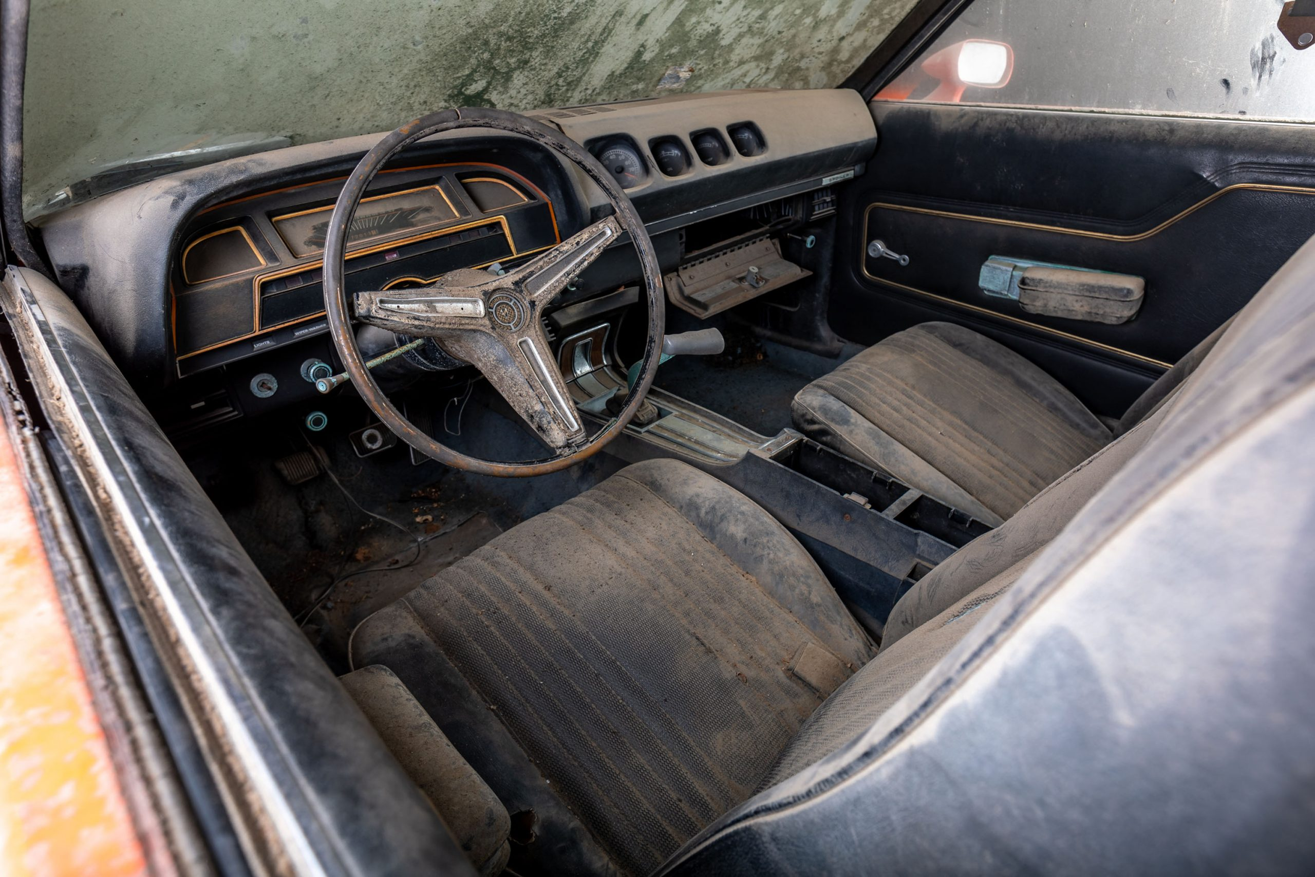 1970 Mercury Cyclone Spoiler Barn Find interior